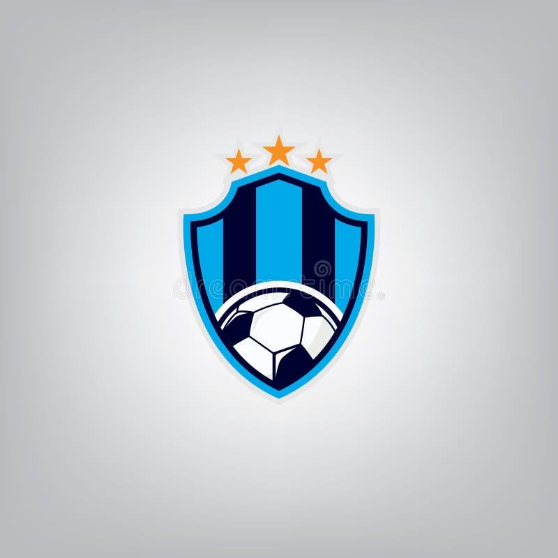 Fußball Logo Design Template, Fußballausweis-Teamidentität, Fußball-Fußball-T-Shirt Grafik vektor abbildung