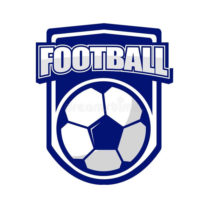 Fußball-Logo für Sport-Verein stock abbildung