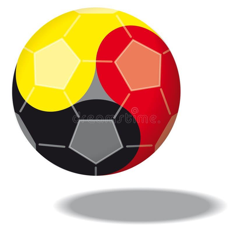 Fußball mögen Yin u. Yang lizenzfreie abbildung