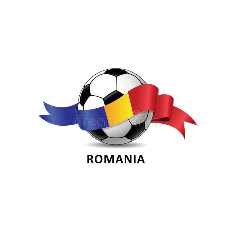 Fußball mit bunter Spur RUMÄNIEN-rico Staatsflagge vektor abbildung