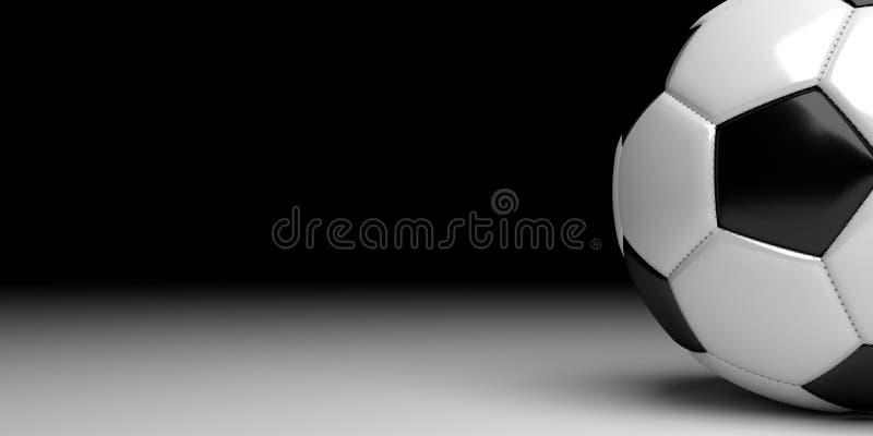 Fußball mit Schwarzem in der Rückseite vektor abbildung