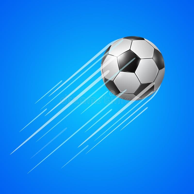Fußball mit Spur stock abbildung
