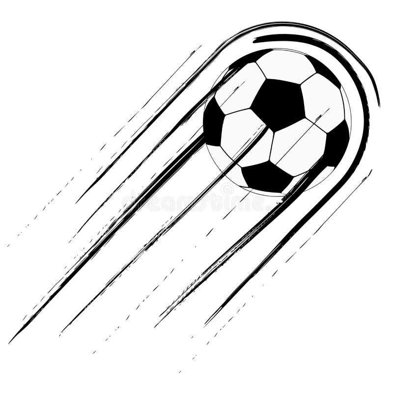 Fußball mit Spur vektor abbildung