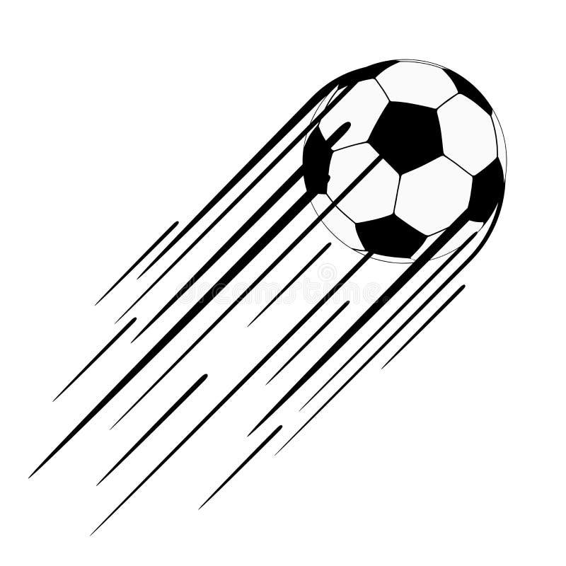 Fußball mit Spur lizenzfreie abbildung