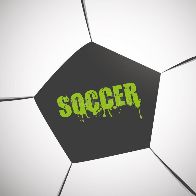 Fußball-naher hoher Hintergrund lizenzfreie abbildung