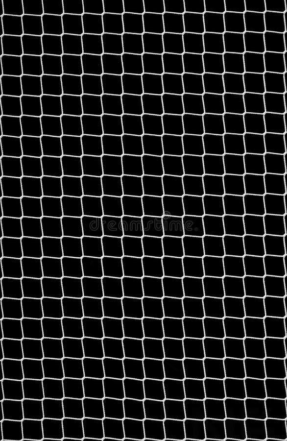 Fußball-Netz auf Schwarzem lizenzfreies stockbild