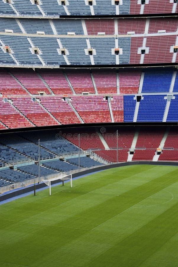 Fußball- oder Fußballboden lizenzfreies stockfoto