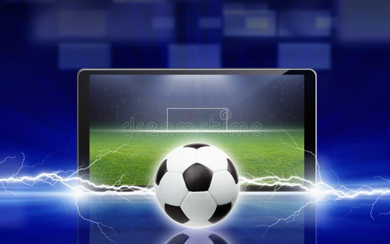 Fußball online stockbild
