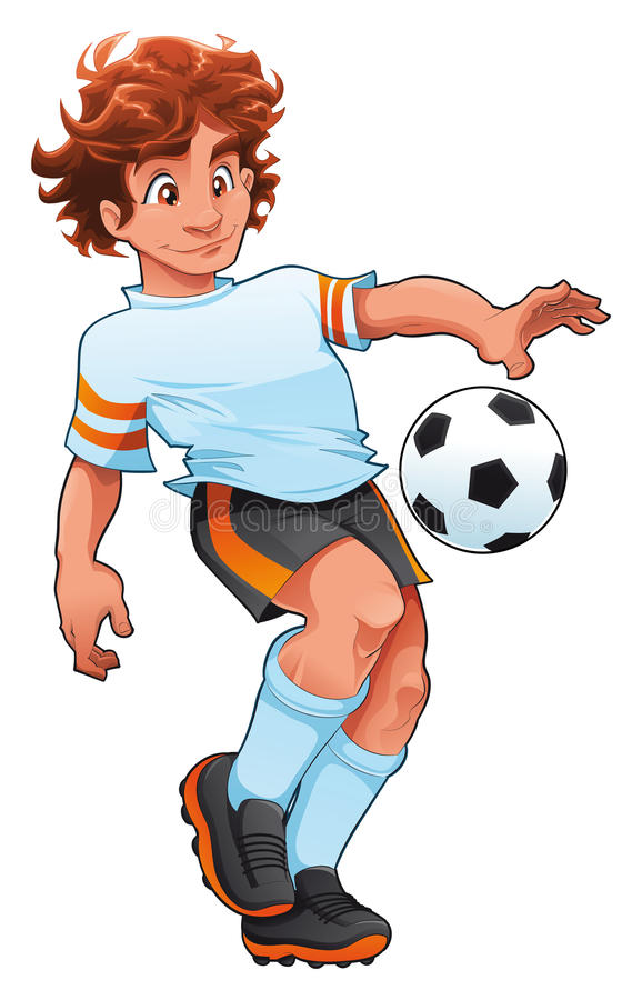 Fußball-Spieler. lizenzfreie abbildung