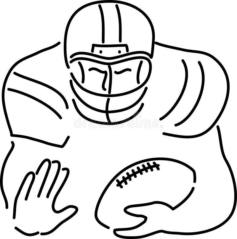 Fußball-Spieler-Karikatur Lizenzfreies Stockfoto