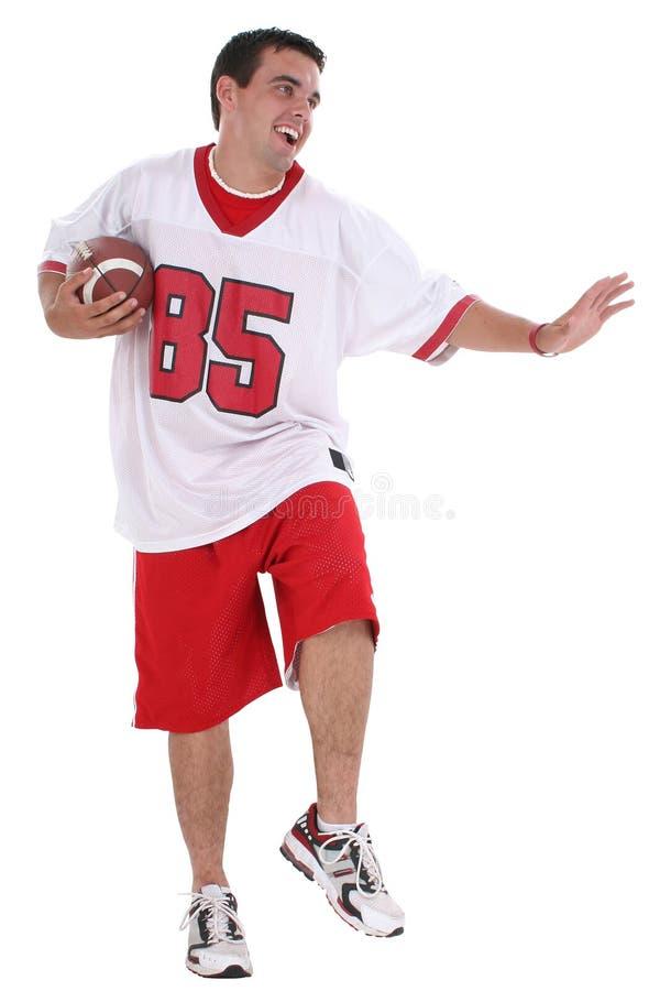 Fußball-Spieler mit Ausschnitts-Pfad lizenzfreie stockfotos