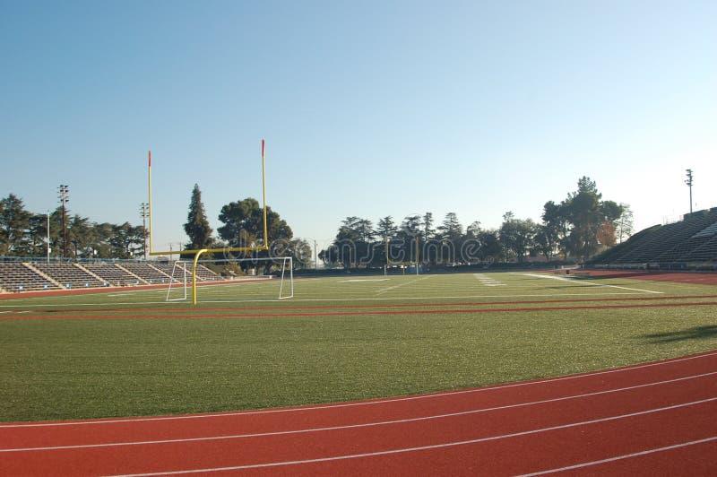 Fußball-Spur-Feld Stockfotografie