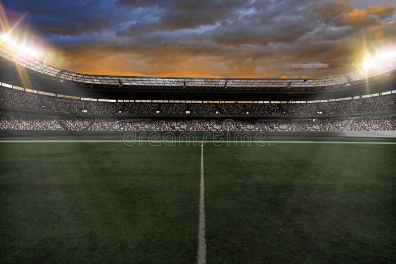 Fußball stadium lizenzfreie stockfotografie