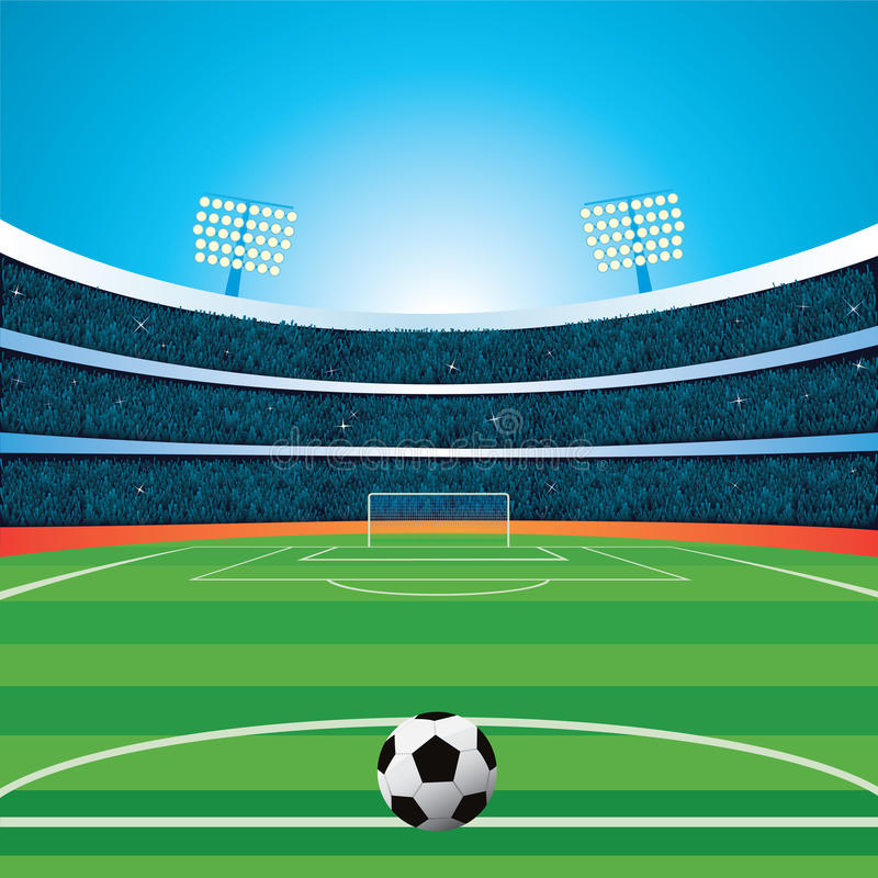Fußball stadium lizenzfreies stockfoto