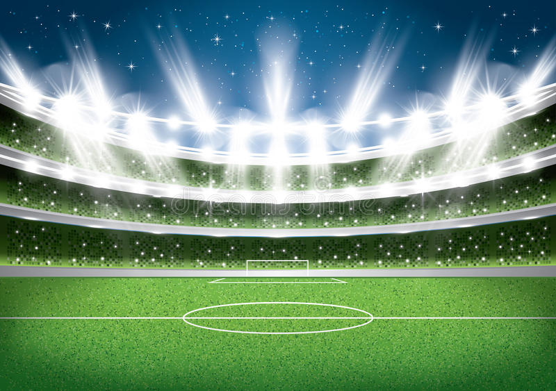 Fußball stadium Fußballarena stock abbildung