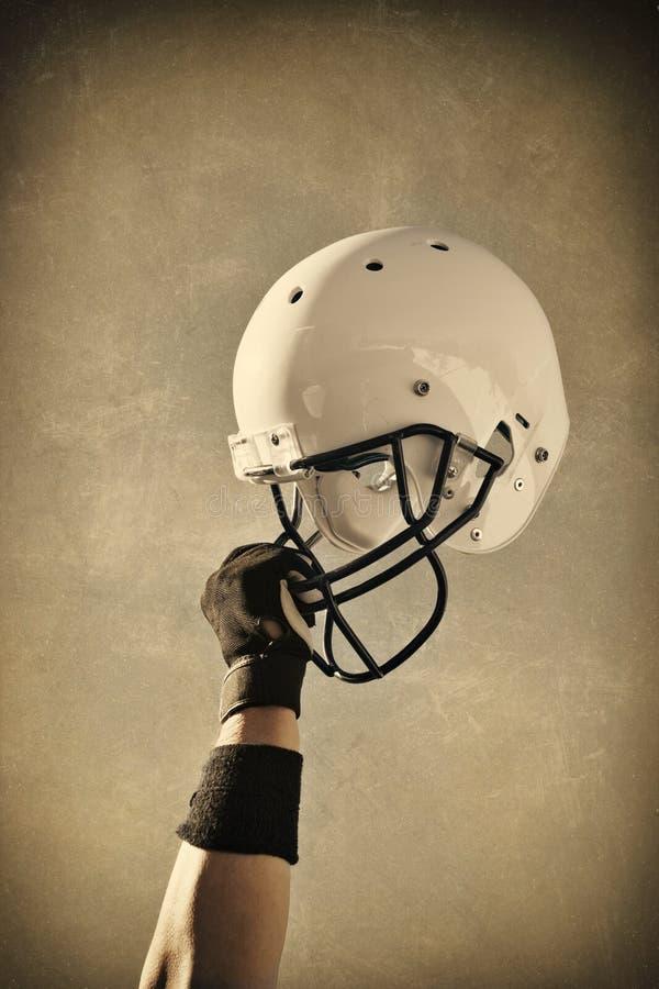 Fußball-SturzhelmSepia getont lizenzfreies stockbild