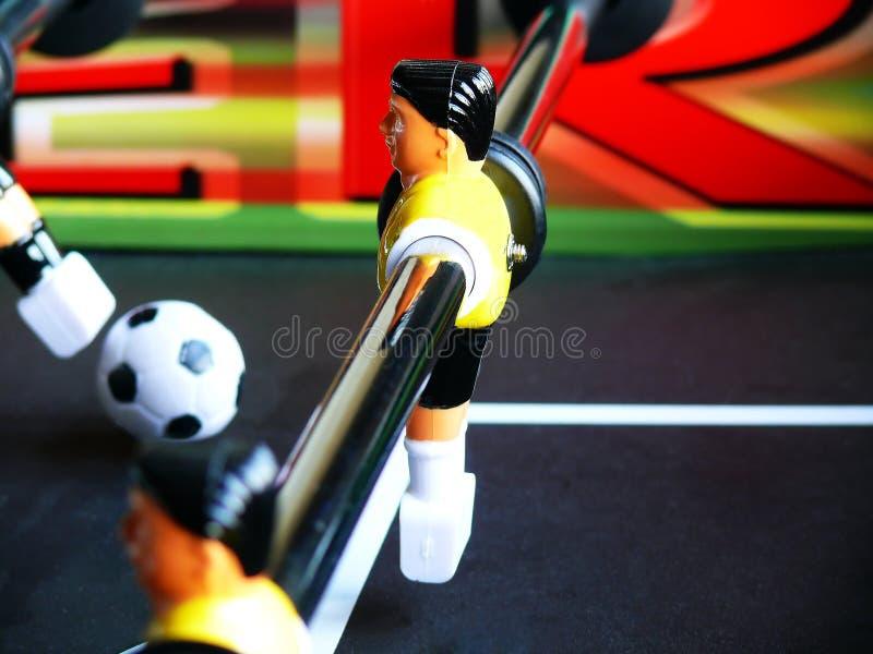 Fußball-Tabellen-Verteidigung stockfoto