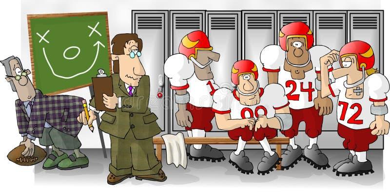 Download Fußball-Umkleideraum stock abbildung. Illustration von fußball - 47302
