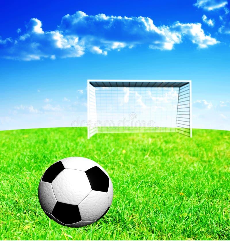 Fußball und Feld stock abbildung