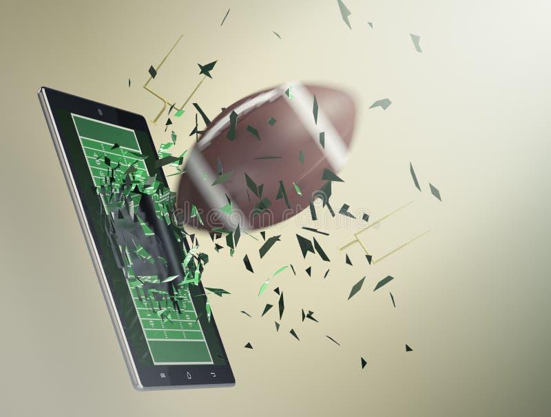 Fußball und neue Kommunikationstechnologie stock abbildung