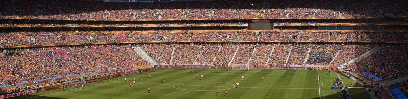 Fußball-Verfechter panoramisch - FIFA-WC 2010 lizenzfreie stockbilder