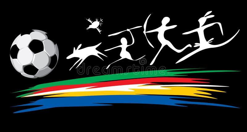 Fußball-Weltcup in Südafrika lizenzfreie abbildung
