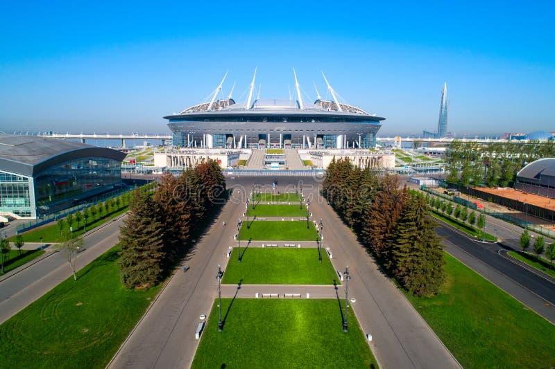 2018 Fußball-Weltmeisterschaft, Stadion Russlands, St Petersburg, St Petersburg lizenzfreies stockbild