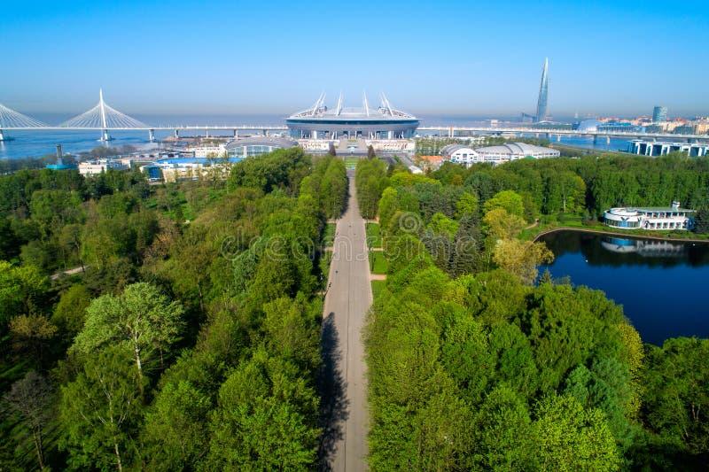2018 Fußball-Weltmeisterschaft, Stadion Russlands, St Petersburg, St Petersburg stockfotografie