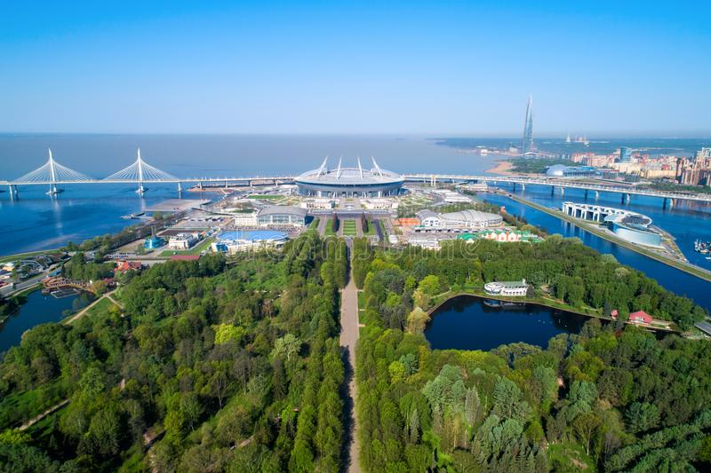 2018 Fußball-Weltmeisterschaft, Stadion Russlands, St Petersburg, St Petersburg stockfoto