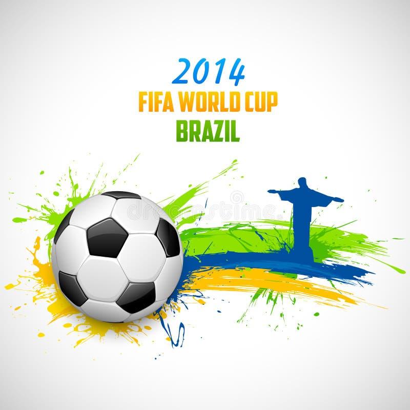 Fußball-Weltmeisterschafts-Hintergrund stock abbildung