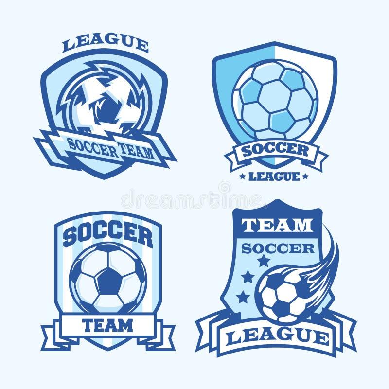 Fußballaufkleber stock abbildung