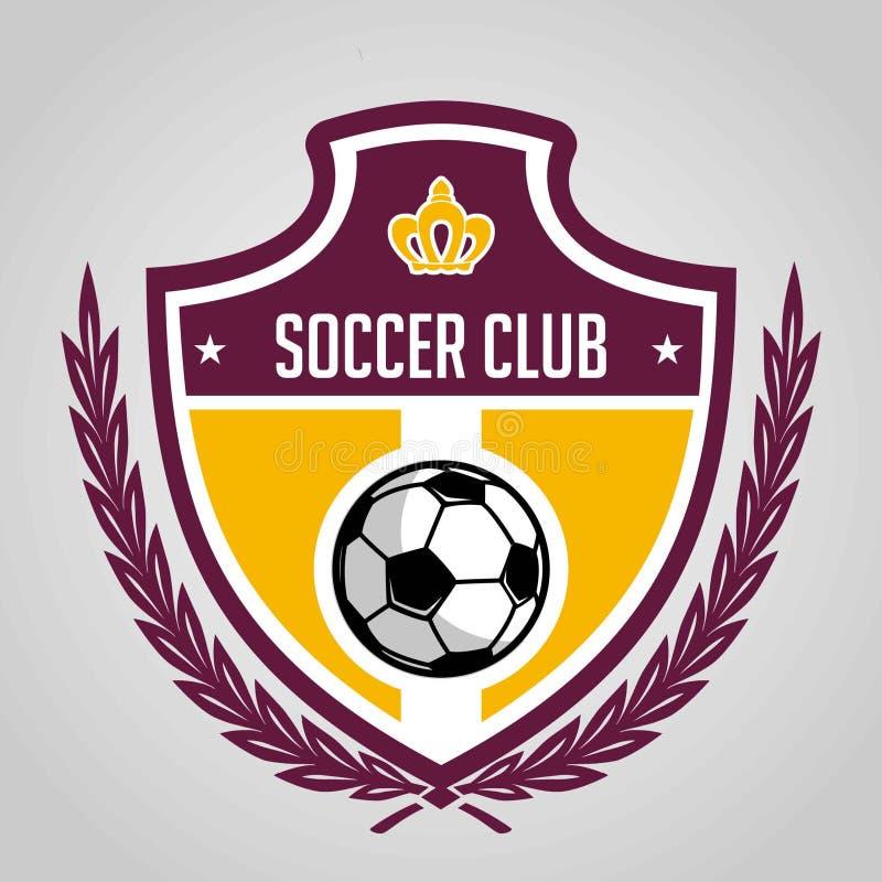 Fußballausweislogo-Schablonenentwurf, Fußballteam, Vektor Sport, Ikone vektor abbildung