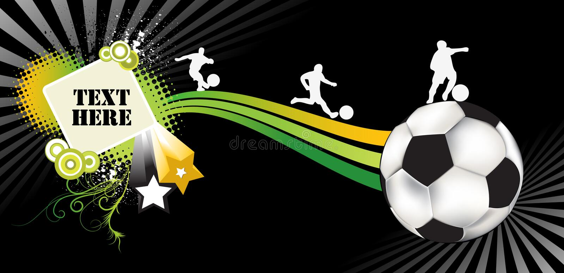 Fußballauszug vektor abbildung
