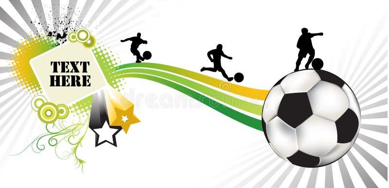 Fußballauszug lizenzfreie abbildung
