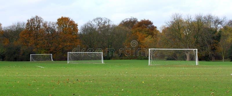 Fußballboden stockfoto