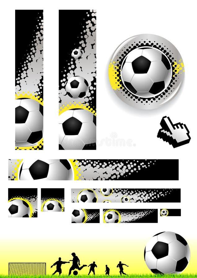 Fußballclipkunst lizenzfreie abbildung