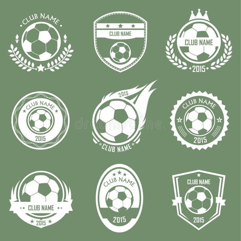 Fußballembleme lizenzfreie abbildung