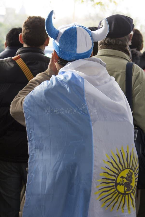 Fußballfanart Buenos Aires Argentinien Latein-Amerika Südamerika nett lizenzfreie stockfotografie