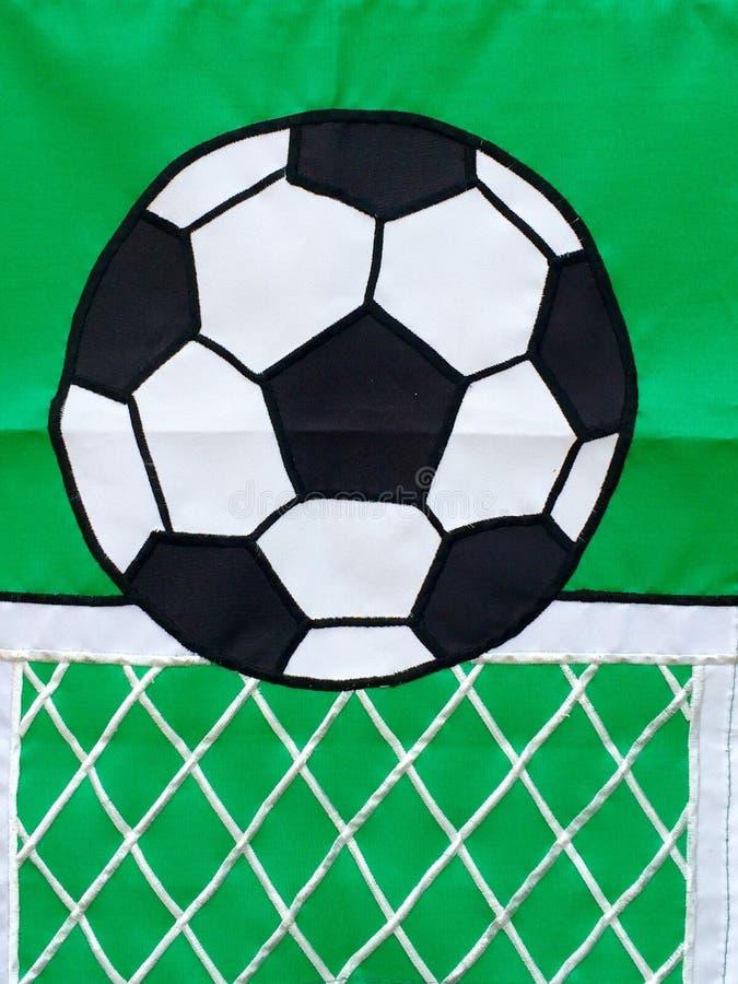 Fußballflagge lizenzfreie stockfotografie