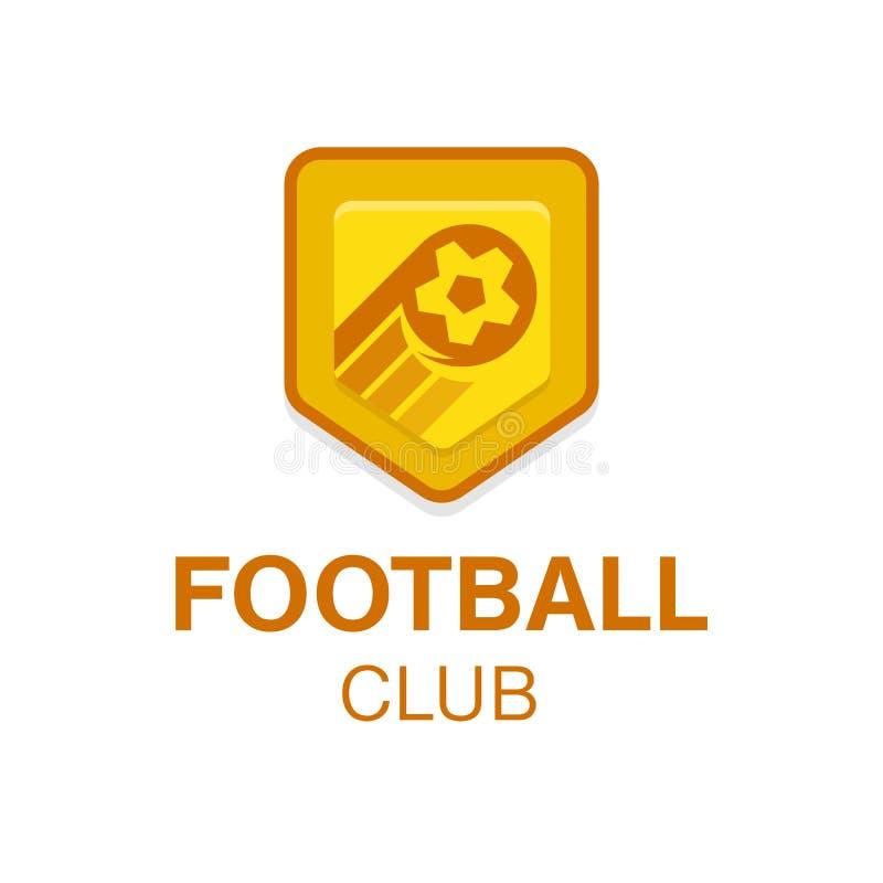 Fußballfußballausweis Vektorlogoillustration in der flachen Designart lizenzfreie abbildung