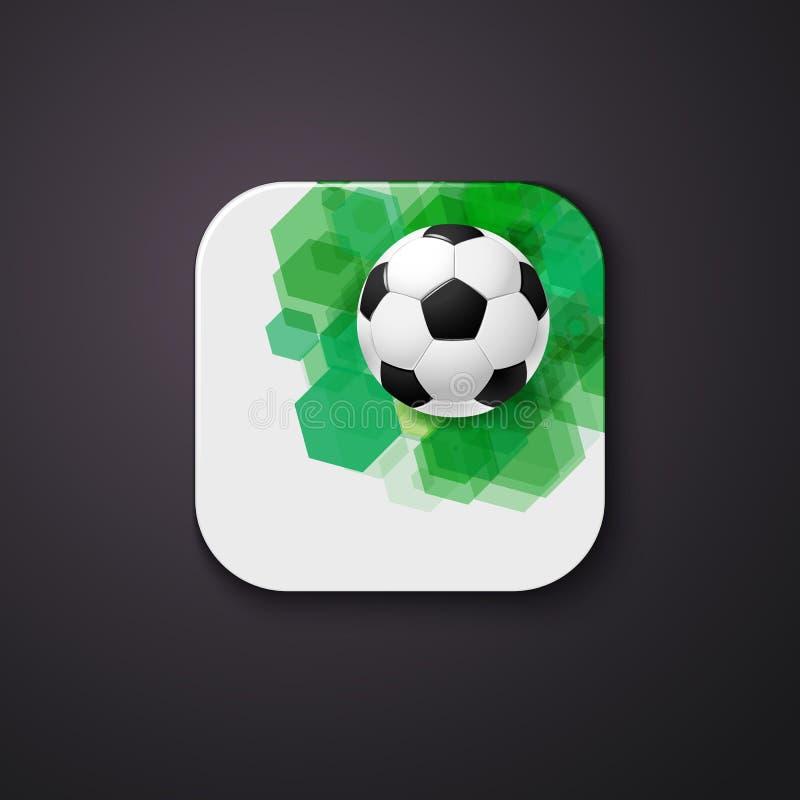 Fußballfußballikone stilisiert wie bewegliche APP Vektor illustrati vektor abbildung