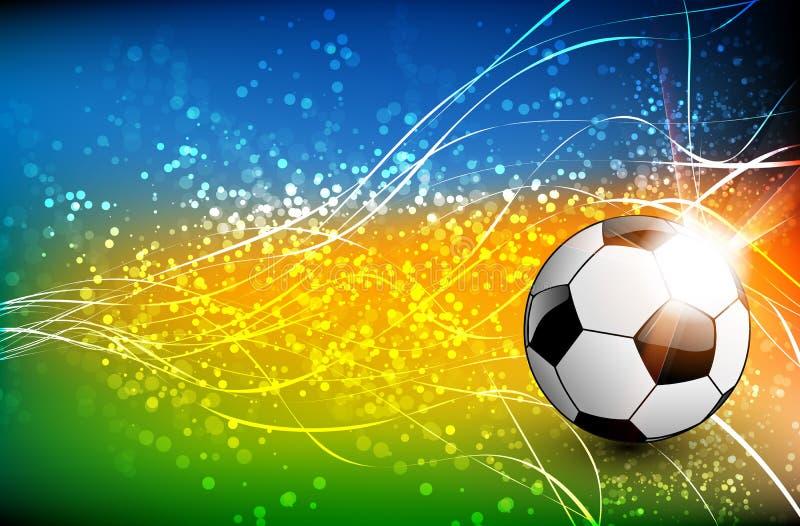 Fußballhintergrund mit Fußball vektor abbildung