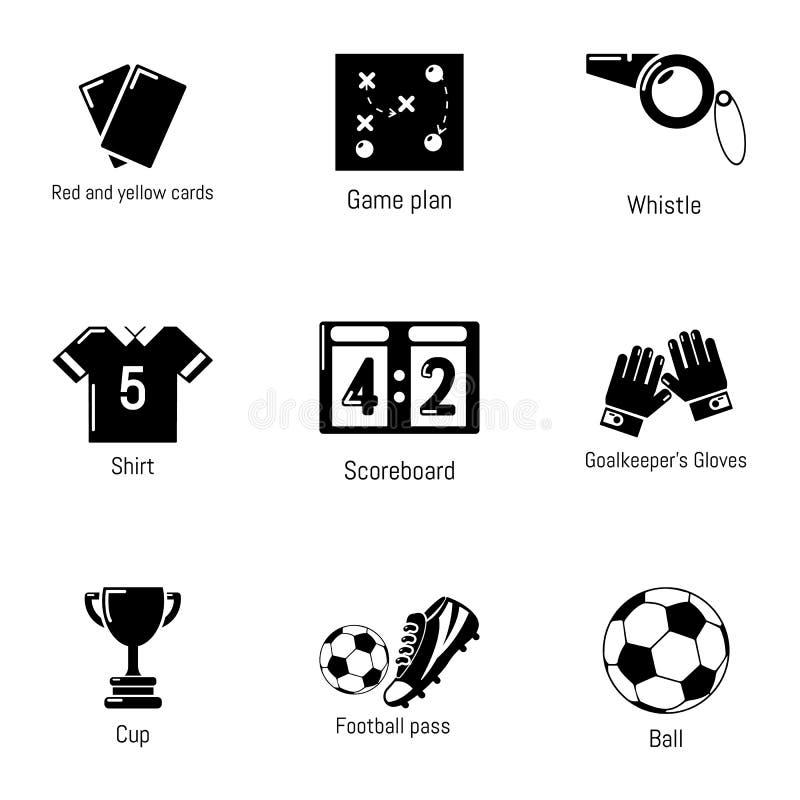 Hexagonpurpur Mit 100 Fussballikonen Vektor Abbildung