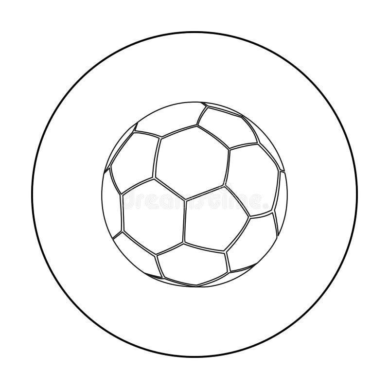 Fußballikonenentwurf Einzelne Sportikone von der großen Eignung, gesund, Trainingsentwurf vektor abbildung