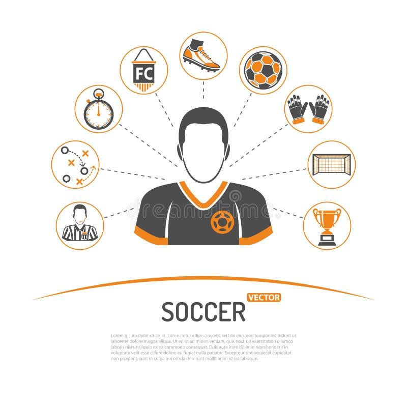 Fußballkonzeptillustration vektor abbildung