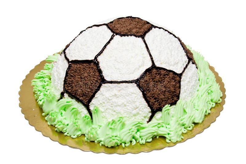 Fußballkuchen stockfoto