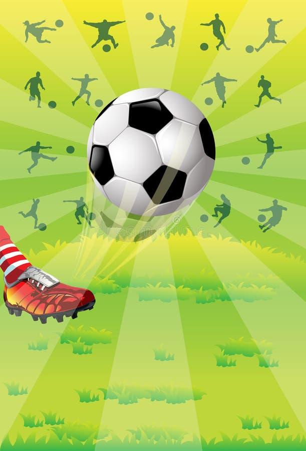 Fußballkugel stock abbildung