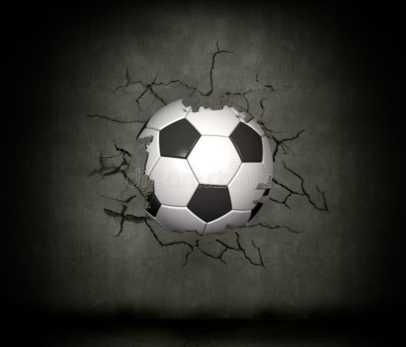 Fußballkugel lizenzfreie abbildung