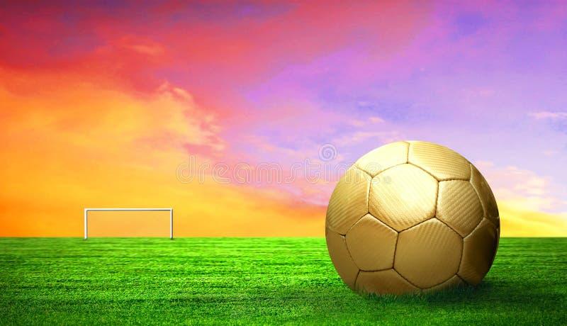 Fußballkugel im Freien stockfoto