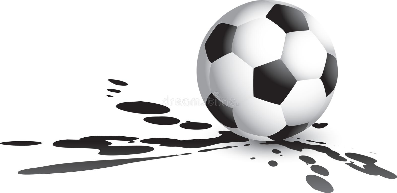 Fußballkugel splat vektor abbildung